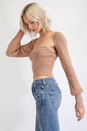 EDIT BY NINE Strapless Tube Top With Bolero Pullover - Front full body