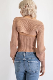 EDIT BY NINE Strapless Tube Top With Bolero Pullover - Back cropped