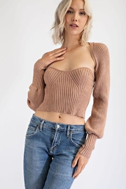 EDIT BY NINE Strapless Tube Top With Bolero Pullover - Product Mini Image