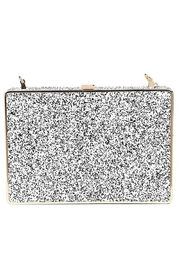 Urban Expressions Edith Glitter Clutch - Front cropped