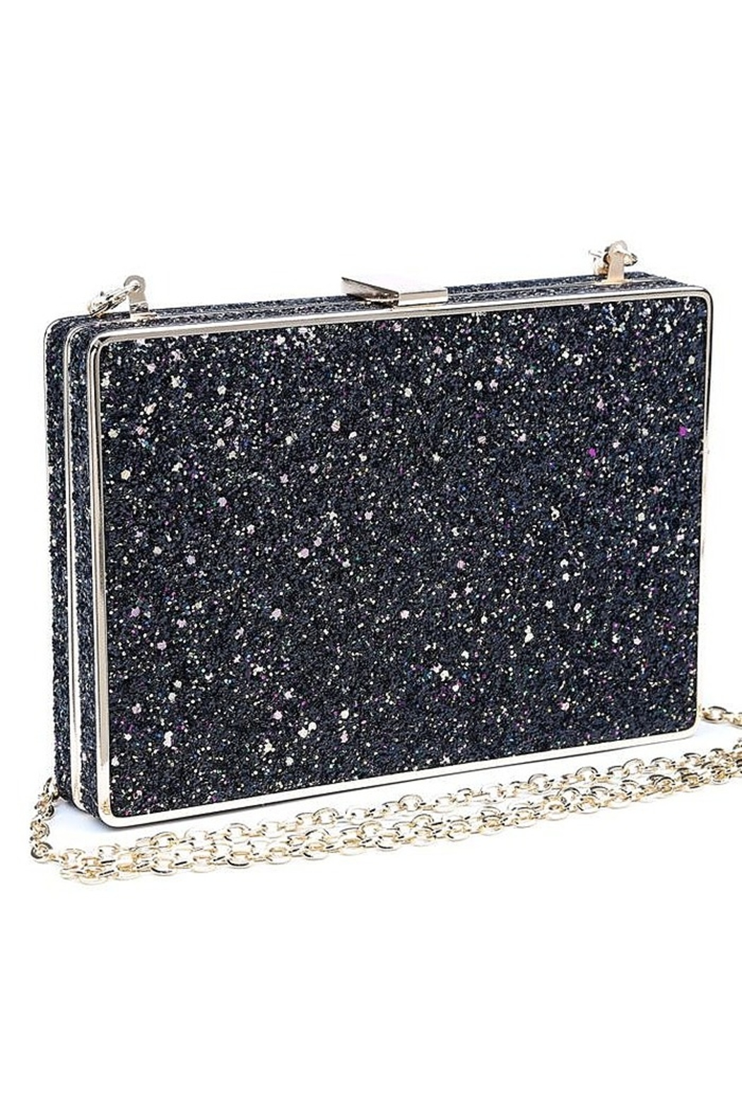 Urban Expressions Edith Glitter Clutch - Front Full Image