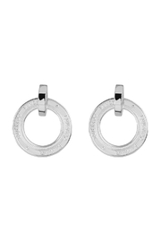 Eduardo Sanchez Carved Silver Earrings - Front cropped