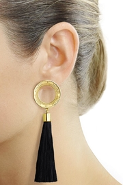 Eduardo Sanchez Tassel Gold Earrings - Product Mini Image