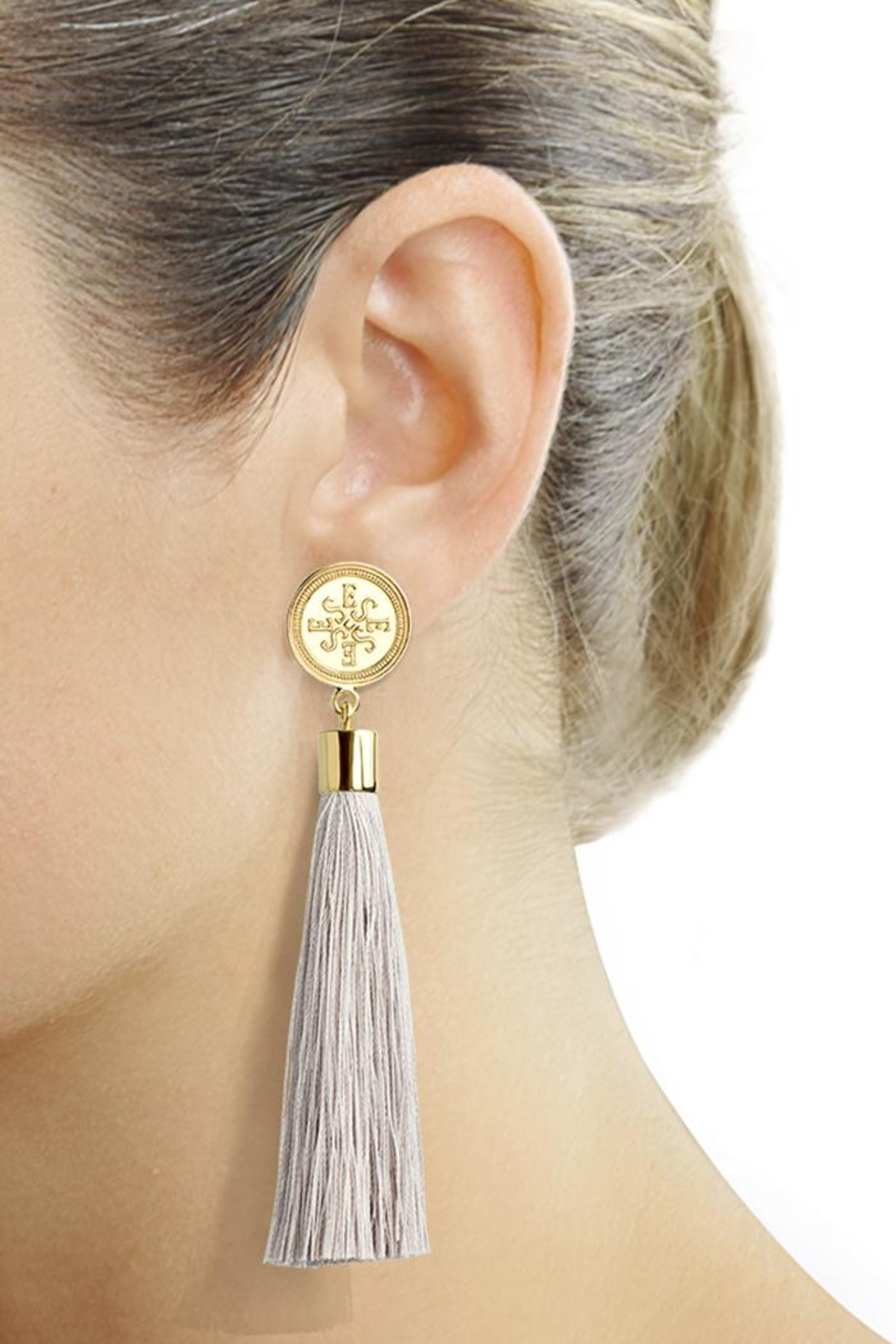 Eduardo Sanchez Tassel Gold Earrings - Main Image