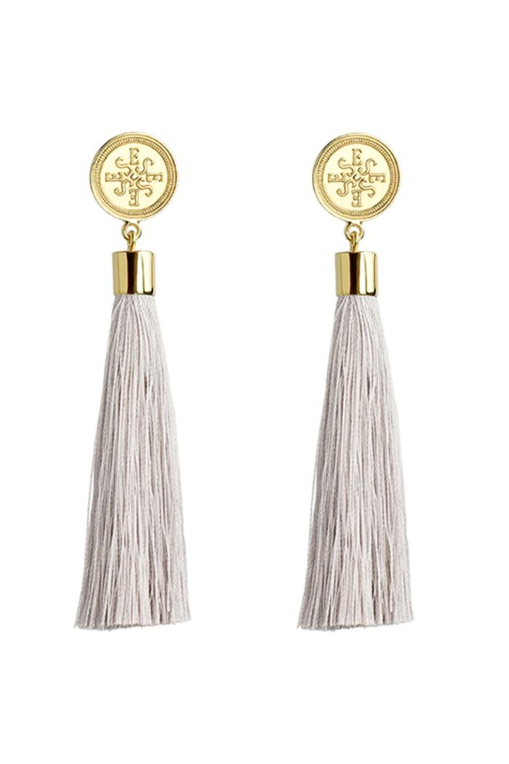 Eduardo Sanchez Tassel Gold Earrings - Front Full Image