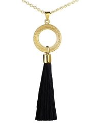 Eduardo Sanchez Tassel Gold Necklace - Product Mini Image