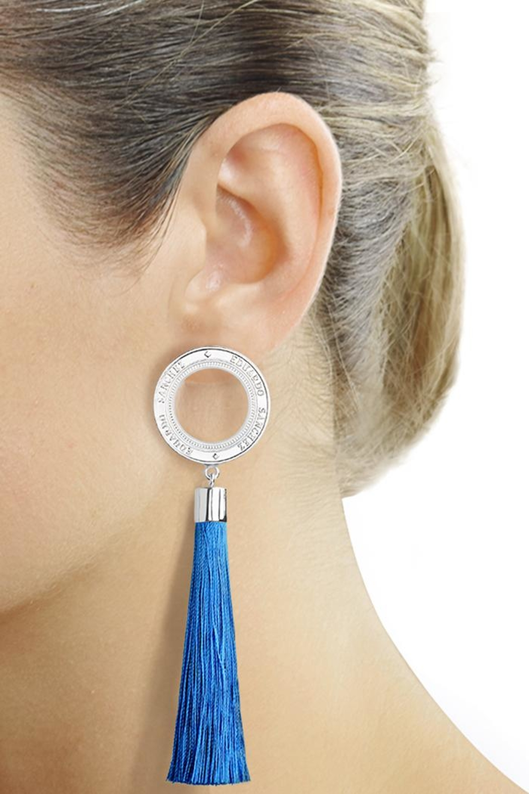 Eduardo Sanchez Tassel Silver Earrings - Main Image