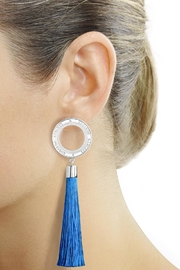 Eduardo Sanchez Tassel Silver Earrings - Front cropped