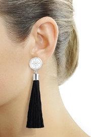 Eduardo Sanchez Tassel Silver Earrings - Product Mini Image