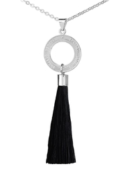 Eduardo Sanchez Tassel Silver Necklace - Product Mini Image