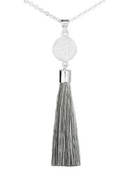 Eduardo Sanchez Tassel Silver Necklace - Other