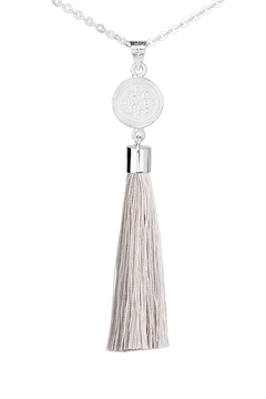 Eduardo Sanchez Tassel Silver Necklace - Alternate List Image