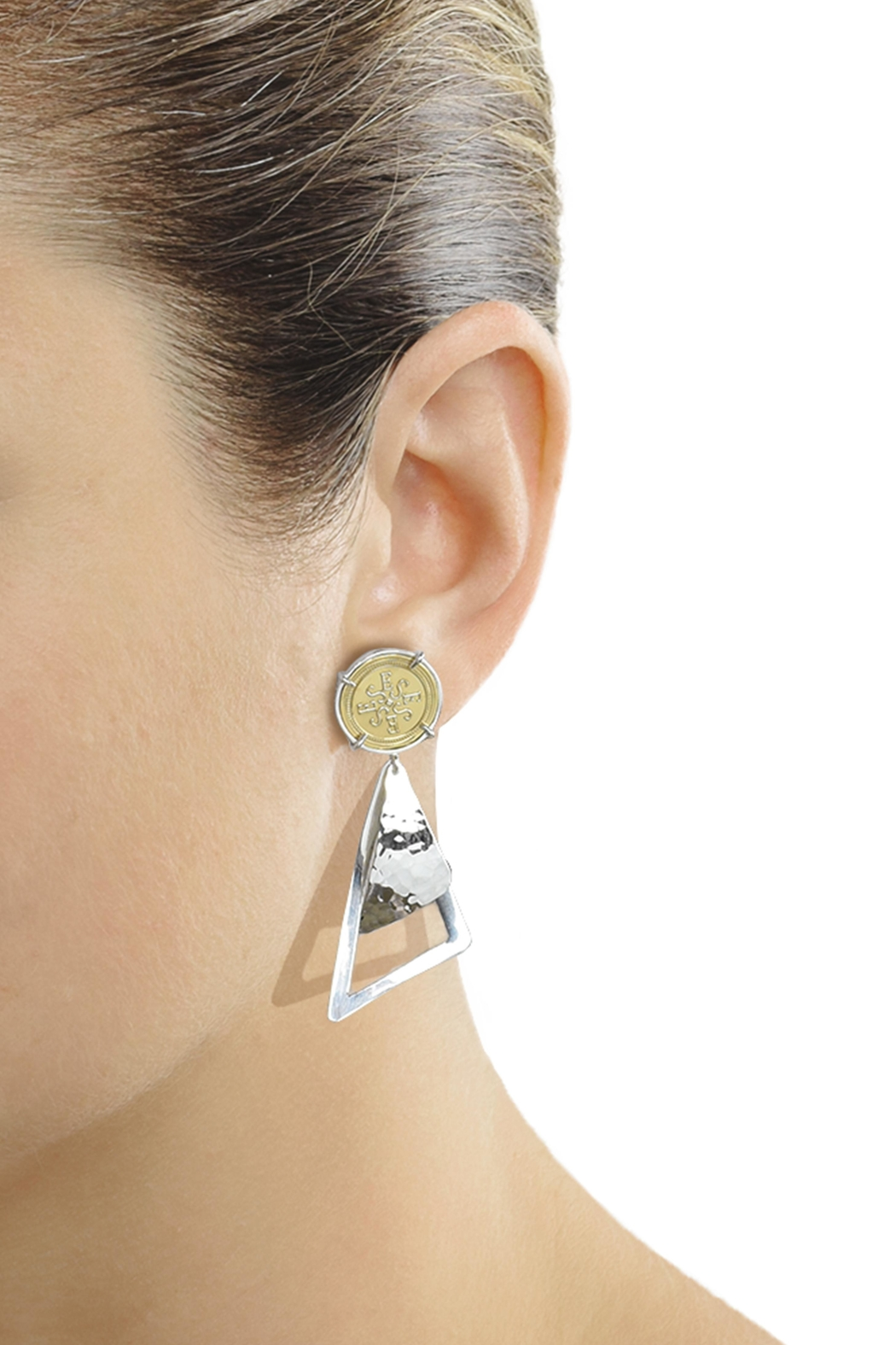 Eduardo Sanchez Two Tone Earrings - Front Full Image