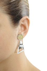 Eduardo Sanchez Two Tone Earrings - Front full body