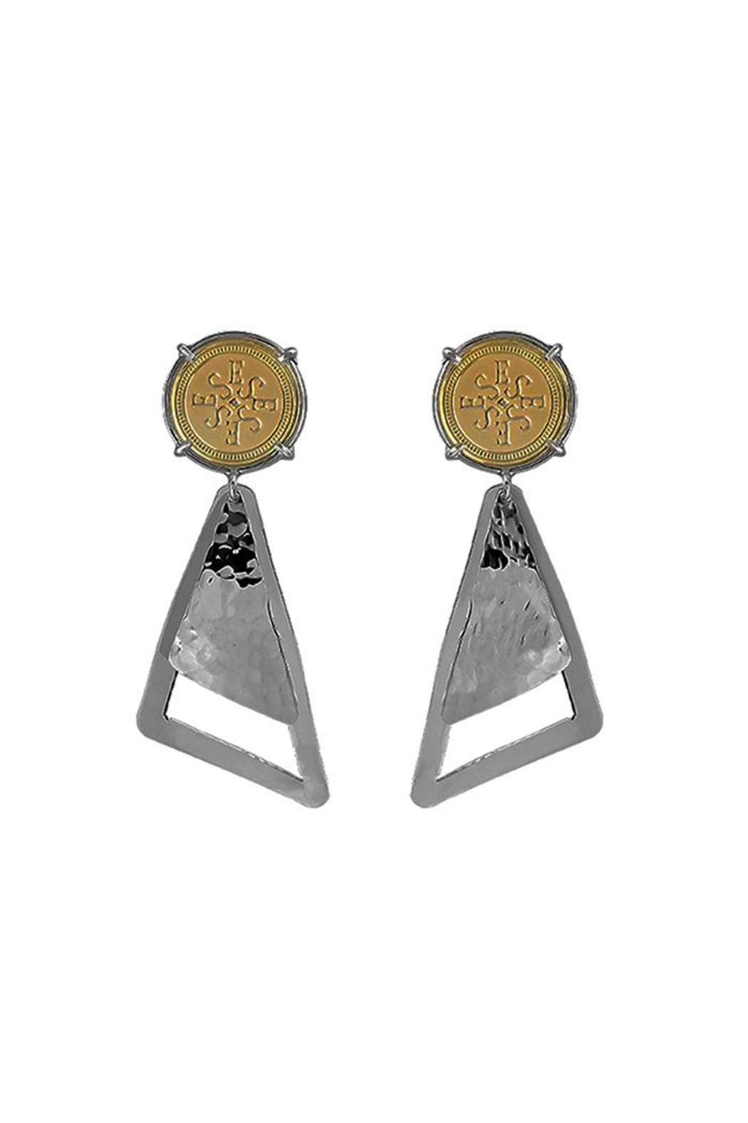 Eduardo Sanchez Two Tone Earrings - Front Cropped Image