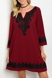ee:some Burgundy/black Lace Dress - Product Mini Image