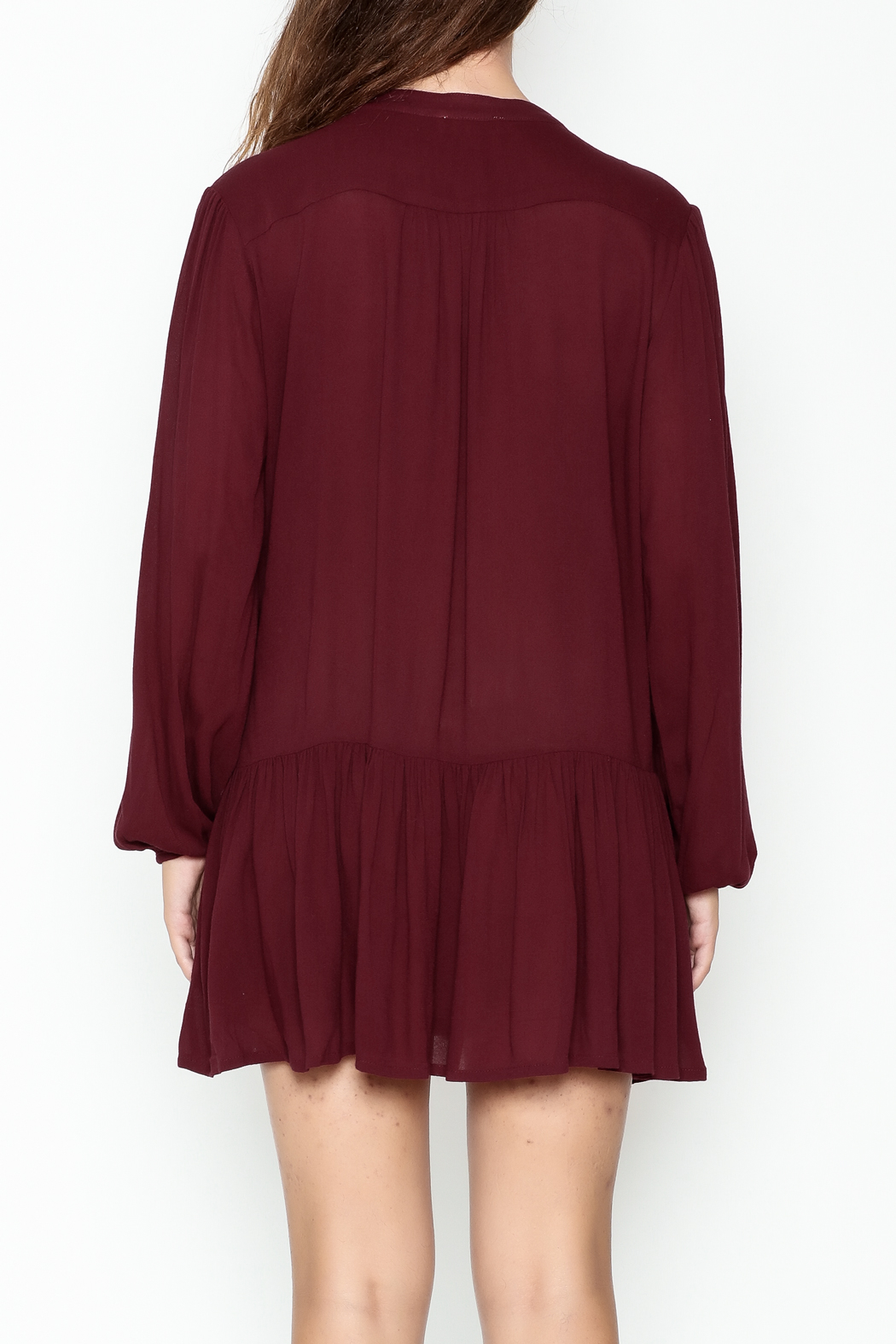 ee:some Button Down Tunic Dress - Back Cropped Image