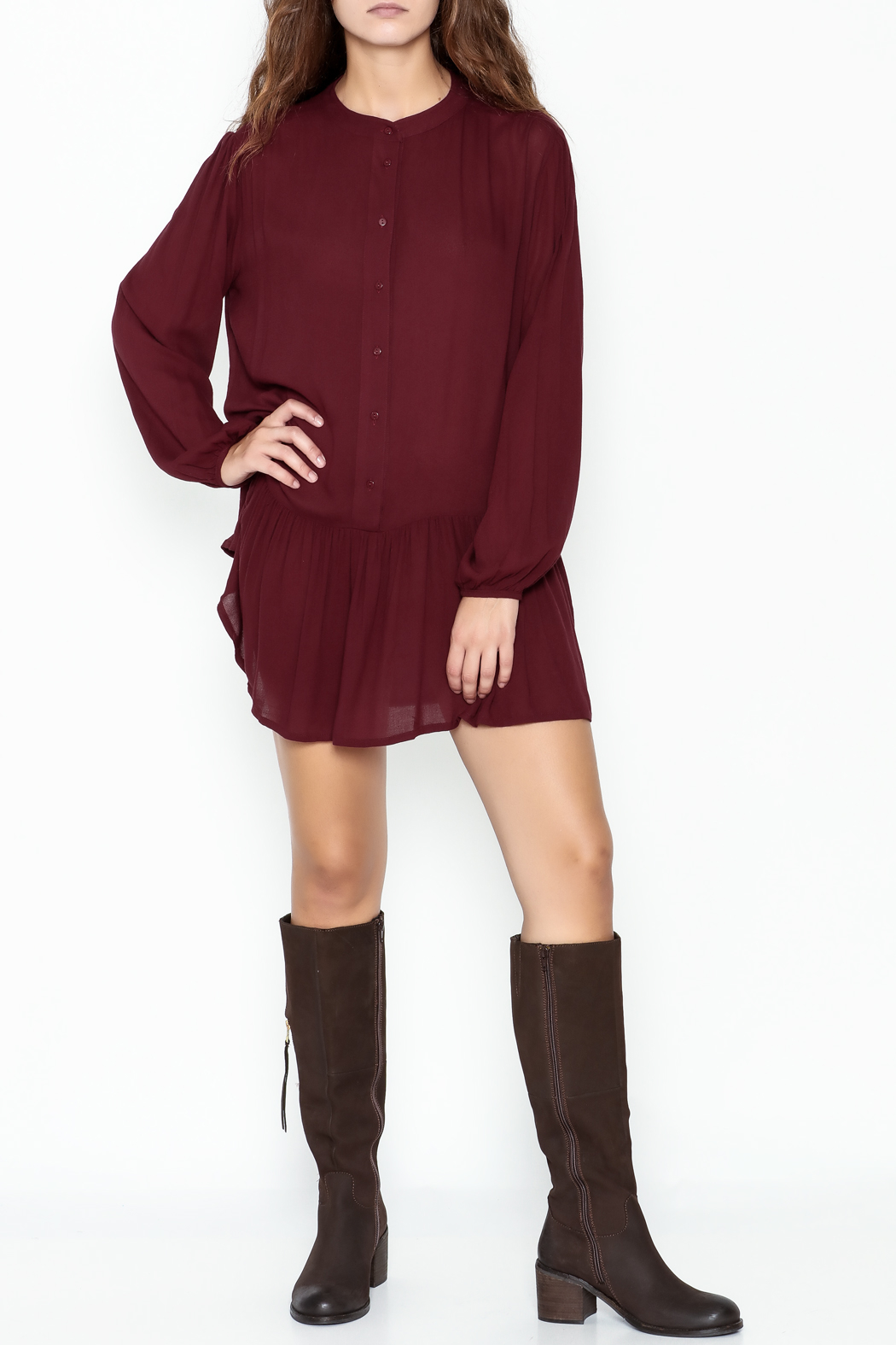 ee:some Button Down Tunic Dress - Side Cropped Image