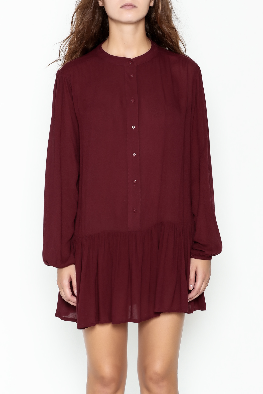 ee:some Button Down Tunic Dress - Main Image