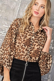 ee:some Cheetah Print Button Down Blouse - Product Mini Image