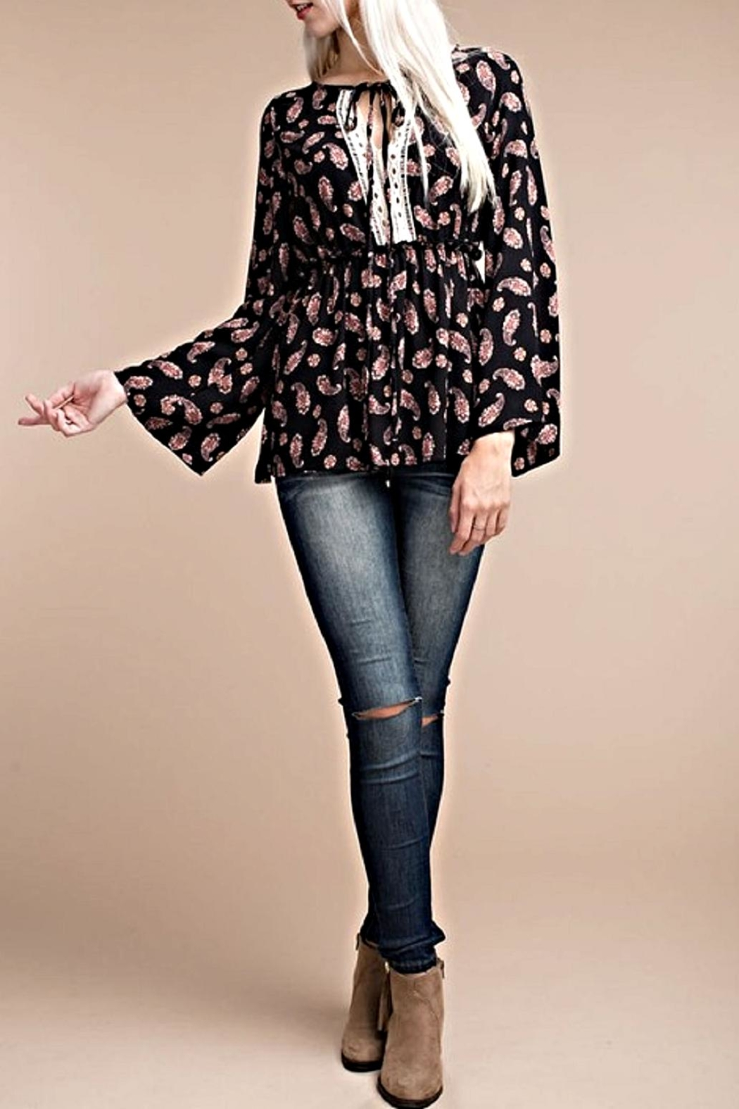 ee:some Crepe Woven Blouse - Main Image