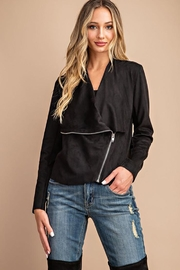 ee:some Drape Front Suede-Jacket - Other
