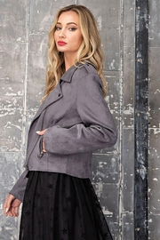 ee:some Faux Suede Moto Jacket - Back cropped