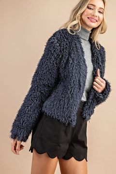 ee:some Fuzzy Open Front Coat - Product List Image