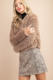 ee:some Fuzzy Open Front Coat - Back cropped