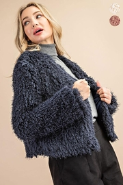 ee:some Fuzzy Open Front Coat - Front full body