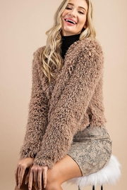 ee:some Fuzzy Open Front Coat - Side cropped