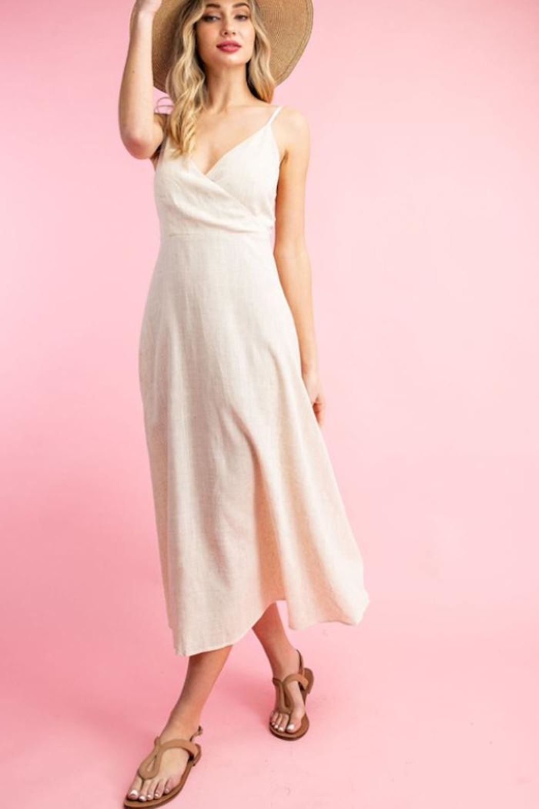 ee:some Linen A-Line Dress - Main Image