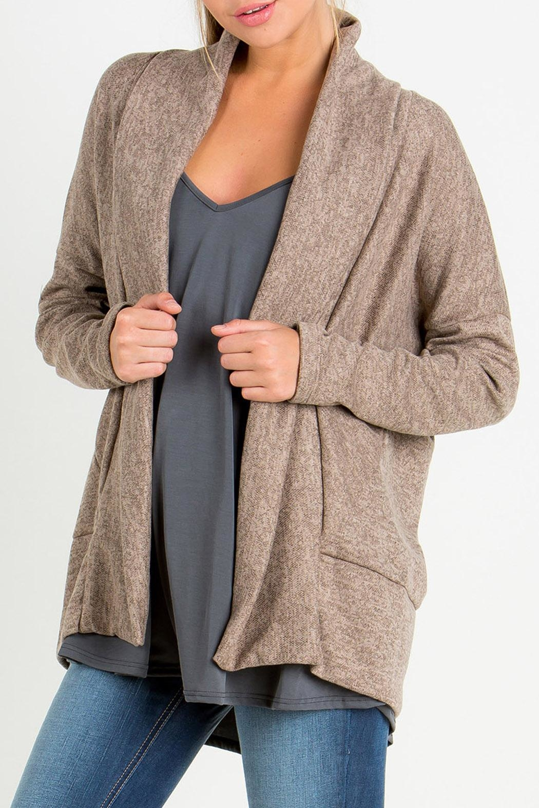 ee:some Mocha Cardigan - Front Cropped Image