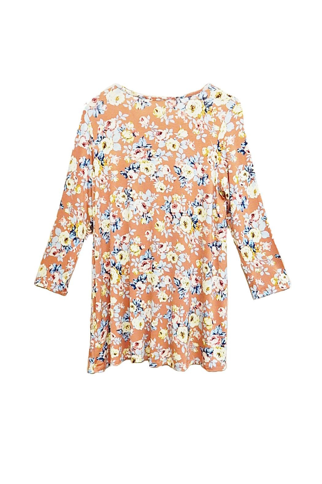 ee:some Peach Floral Top - Side Cropped Image