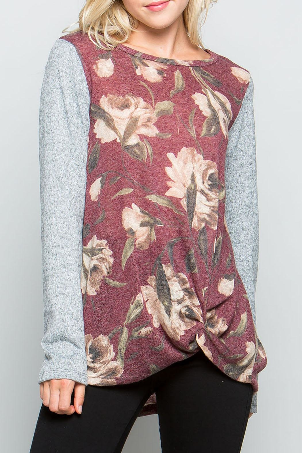 ee:some Plum Floral Top - Main Image