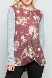 ee:some Plum Floral Top - Front cropped