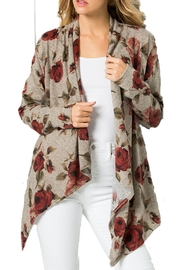 ee:some Rose Print Cardigan - Product Mini Image