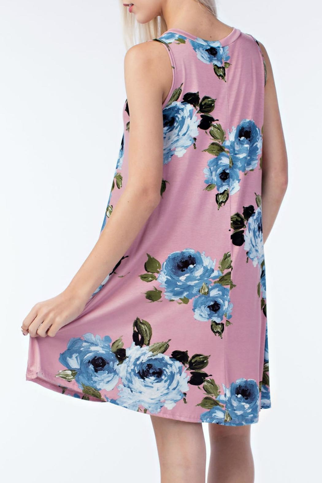 ee:some Rose Swing Dress - Front Full Image