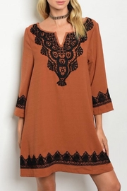 ee:some Rust Shift Dress - Front cropped