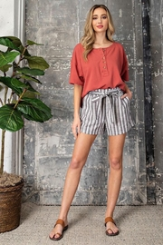 ee:some Sadie Striped Shorts - Product Mini Image