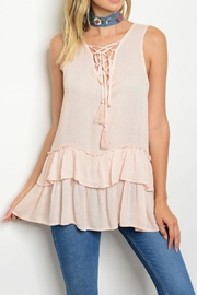 ee:some Sleeveless Ruffled Top - Product Mini Image