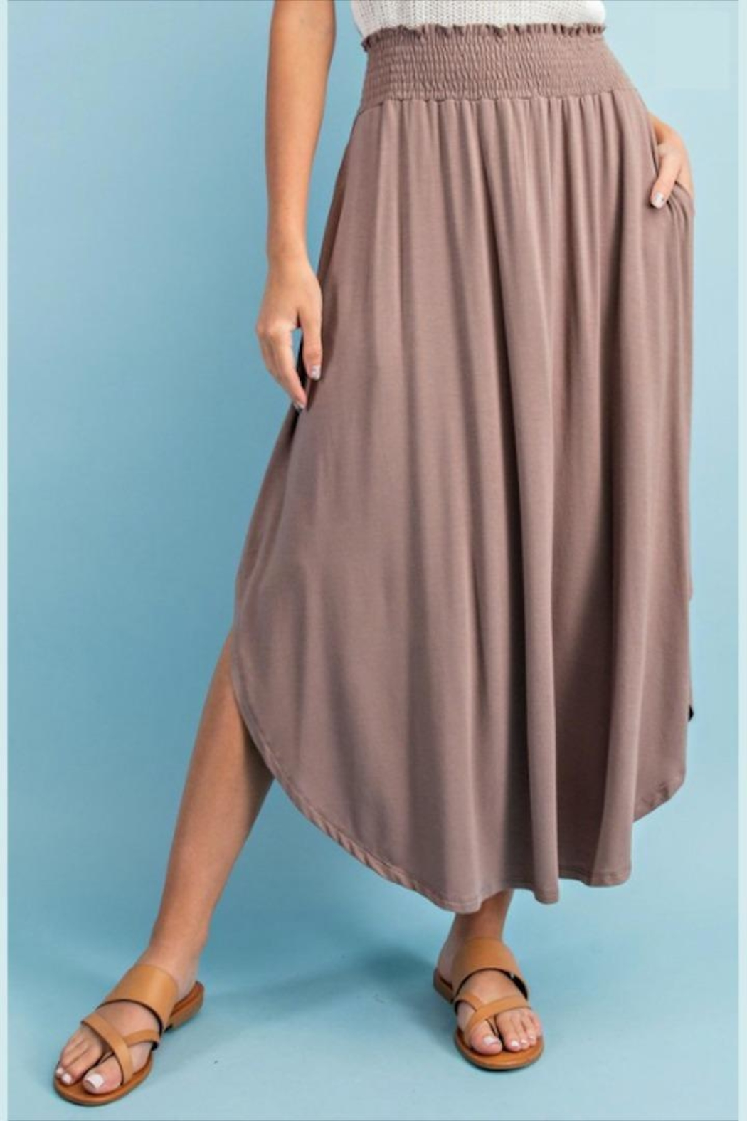 ee:some Smocked Maxi Skirt - Side Cropped Image