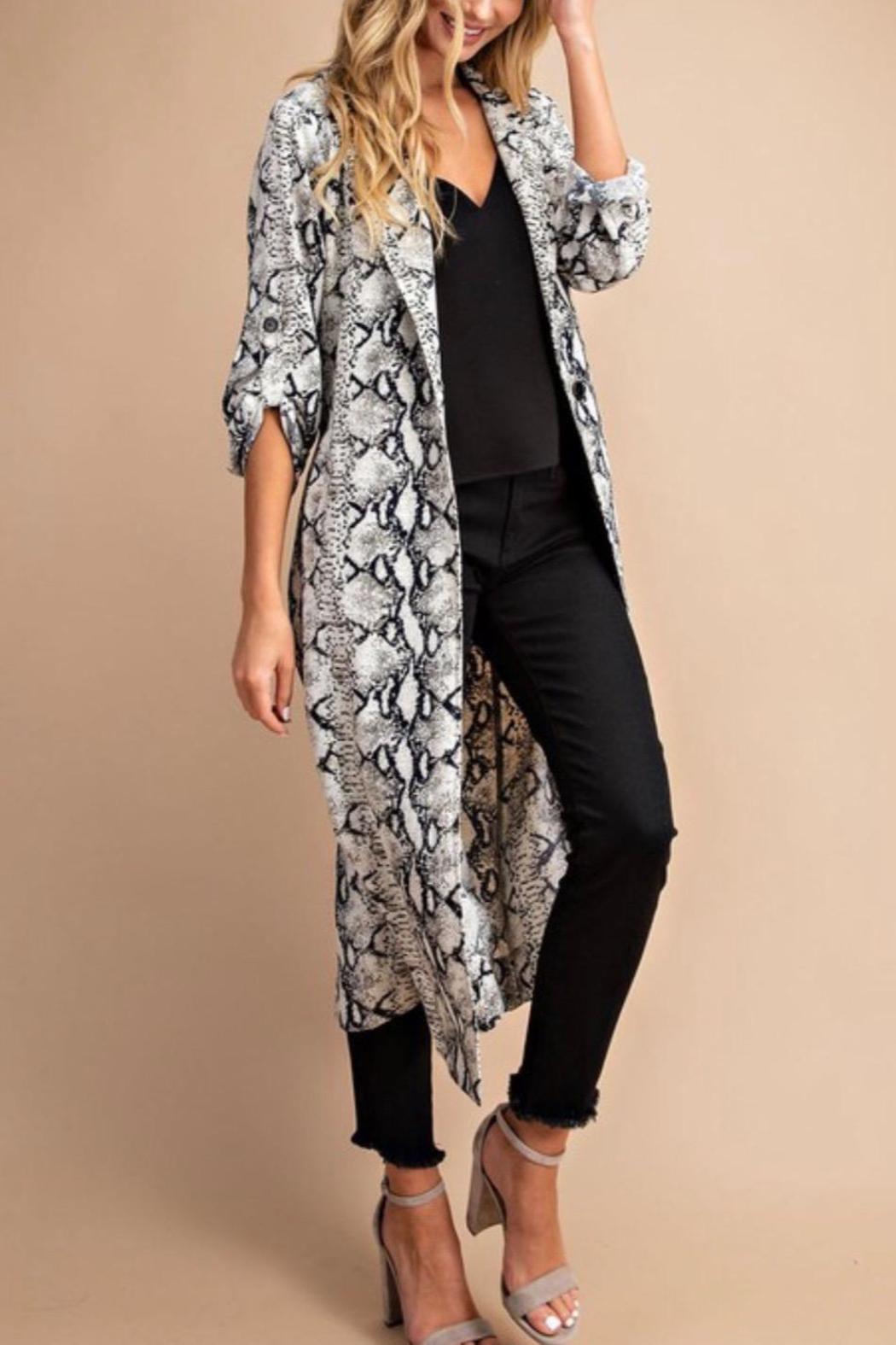 ee:some Snake Trench Cardigan - Main Image
