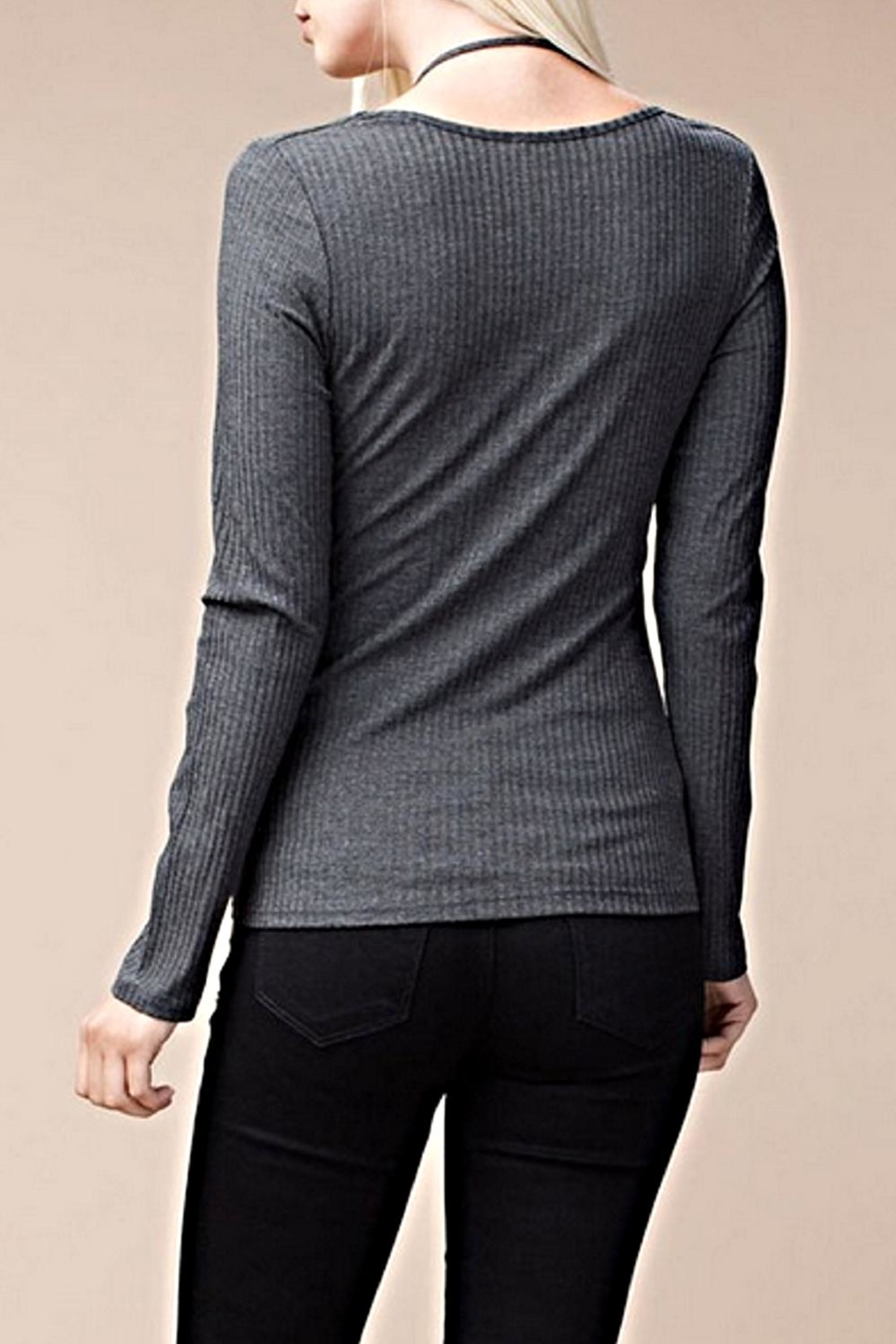 ee:some Stretch Ribbed Top - Side Cropped Image