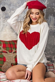 ee:some Sweater With a Ribbed Knit Heart Detail - Front cropped