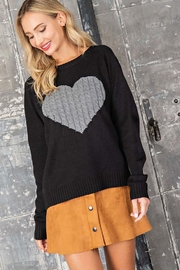 ee:some Sweater With a Ribbed Knit Heart Detail - Side cropped