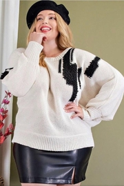ee:some Textured Plus Sweater - Front cropped