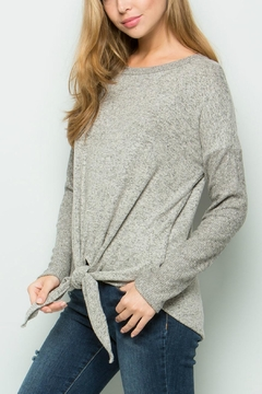 ee:some Tie Front Knit Top - Alternate List Image
