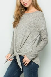 ee:some Tie Front Knit Top - Product Mini Image