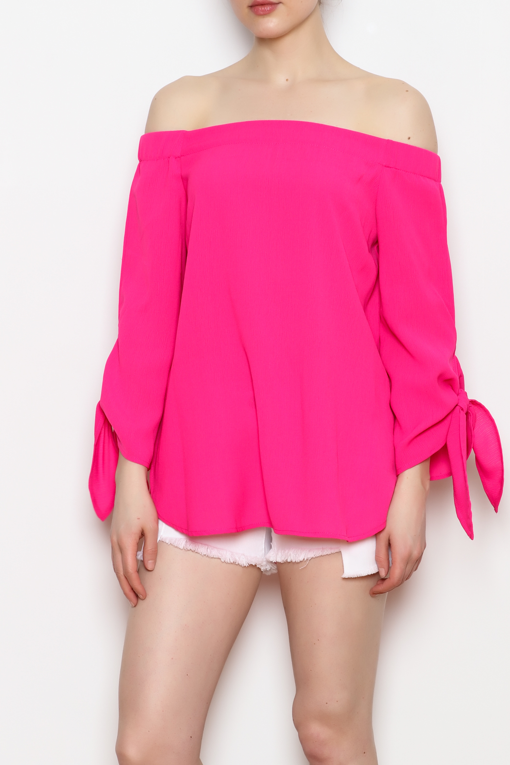 ee:some Tie Sleeve Top - Front Cropped Image